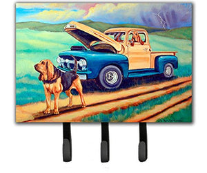 Caroline's Treasures 7513TH68 Bloodhound Leash Holder or Key Hook, Large, Multicolor