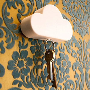 Iuhan Fashion Creative Novelty Home Storage Holder White Cloud Shape Magnetic Magnets Key Holder