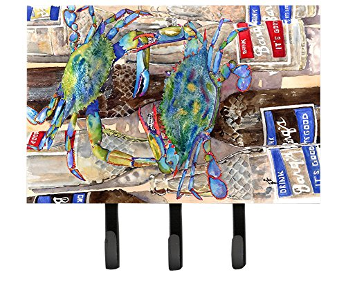 Caroline's Treasures 8914TH68 Blue Crabby Bottles of Barqs Root Beer Leash or Key Holder, Large, Multicolor