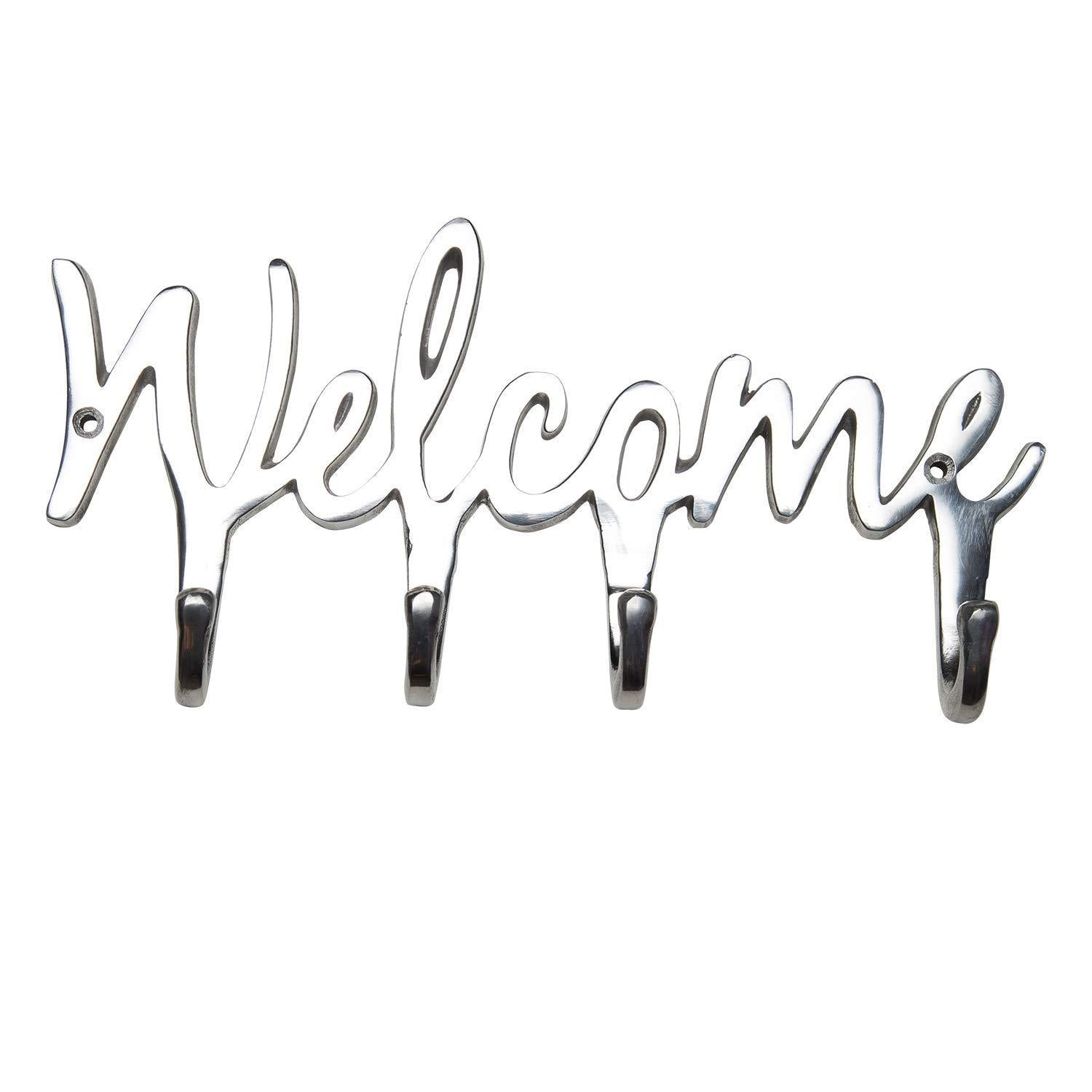 Comfify Welcome Aluminium Key Holder for Wall