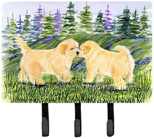 Caroline's Treasures SS8102TH68 Golden Retriever Leash Holder or Key Hook, Large, Multicolor