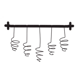 Almeria 5 Wine Bottle Wall Mount Rack - Natural Wrought Iron Finish - Wall Hanging