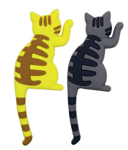 2 Pack Refrigerator Magnets Hook Decorative Cat Tails Key Holder for Home, Office
