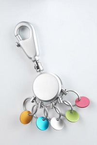 Troika Multicolored Patent Key Holder - 5 Rings