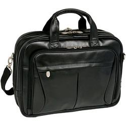 McKlein R Series 8456 Pearson Leather Expandable Double Compartment Briefcase