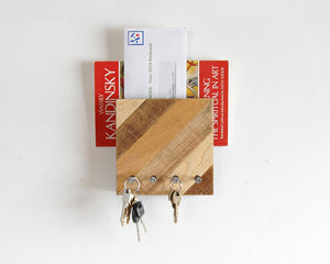 Entryway Mail and Key Organizer - Diagonal Pattern