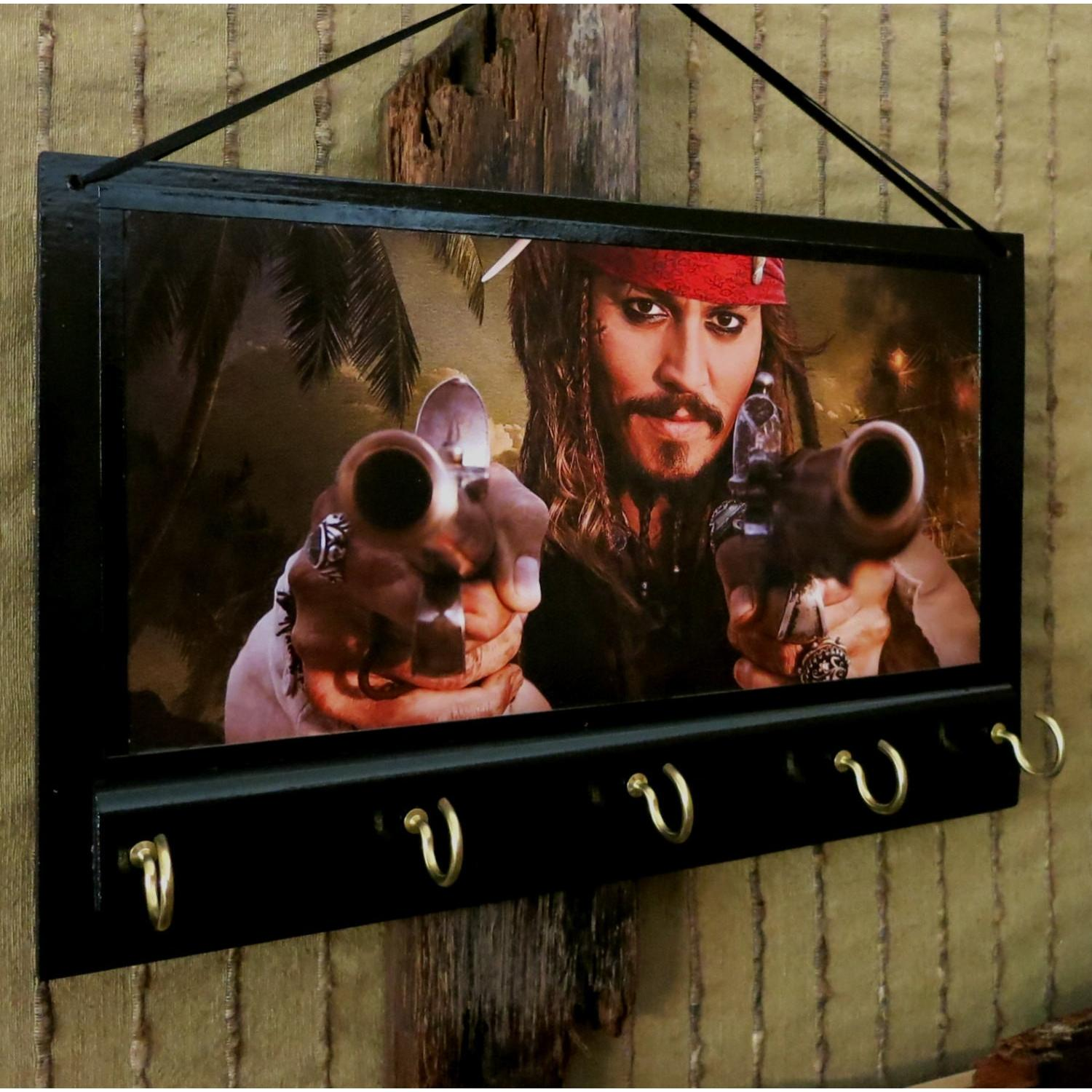 Johnny Depp as Captain Jack Sparrow Key Rack Hanger