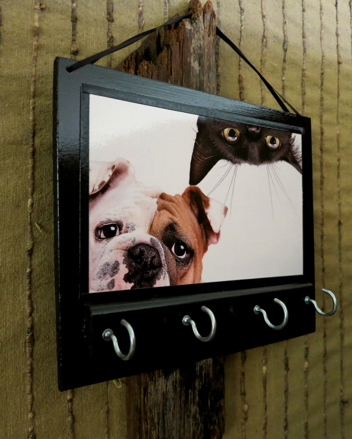 Comic Cat Dog Animal Leash Holder