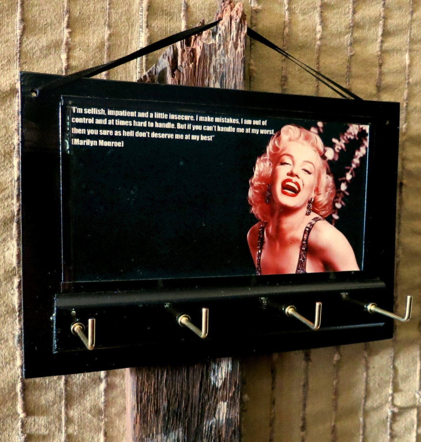 Marilyn Monroe Quote Key Rack