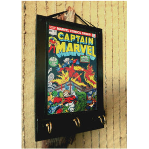 Captain Marvel Comic Key Hook