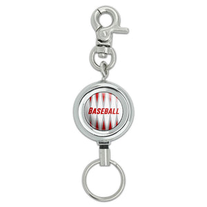 Baseball Let's Go to the Ballgame Lanyard ID Badge Key Retractable Reel Holder