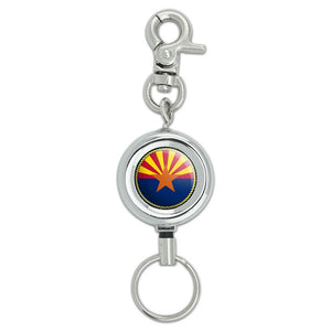 Arizona State Flag Lanyard Belt ID Badge Key Retractable Reel Holder