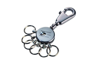 Troika Patent Valet Keyring in Black Chrome Finish