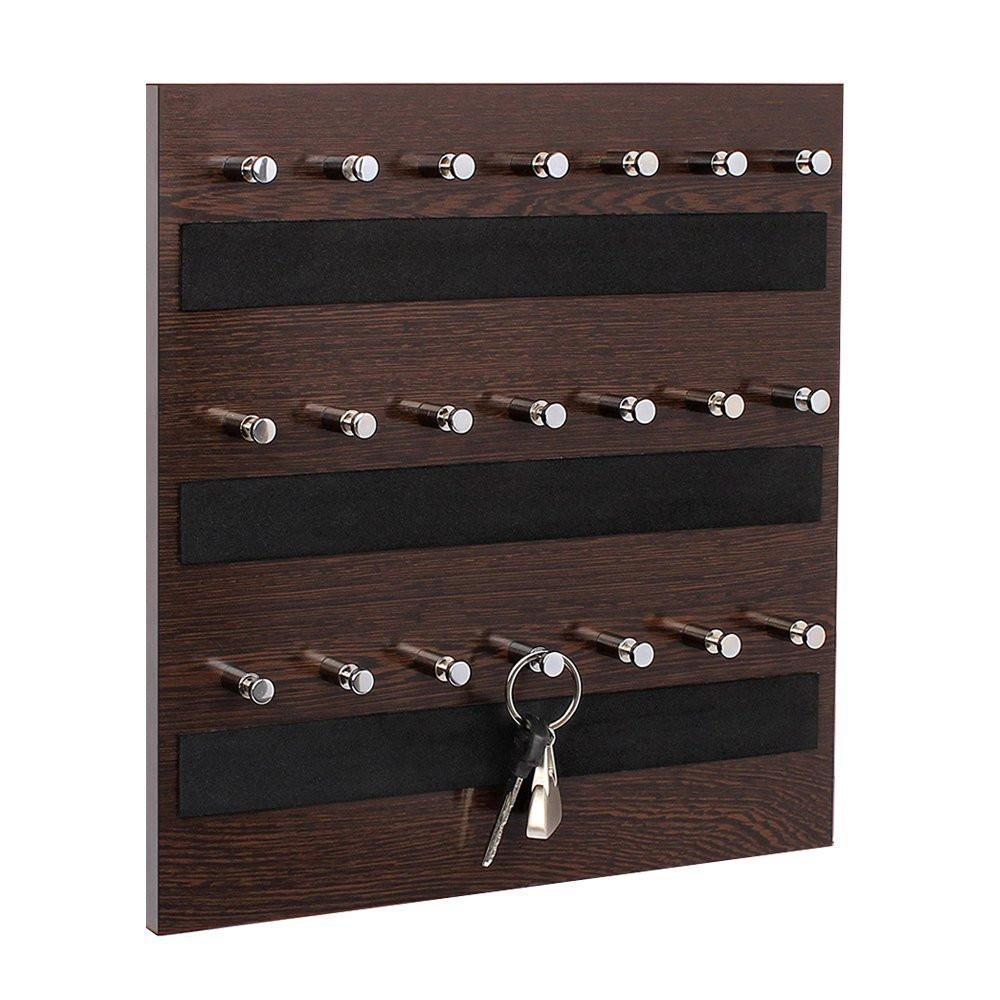 Omega 7 (Wenge) Keyhold - Wall Mounted Key Chain Hanging Board/box Large