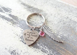 A piece of my heart is in heaven Key Holder