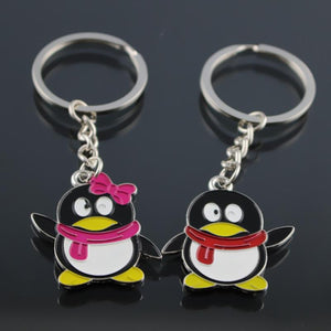 Mp Cartoon Penguin Key Chain Animal Pendant Car Key Ring New Fashion Lovely Bag pendant Car Keychain creative Jewelry