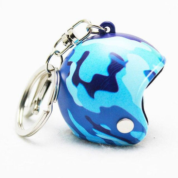 1 Piece Motorcycle Helmet Anime Keychain Cartoon 3D Pokemon GO Spiderman Ironman Men Hat PVC Keyring Car Key Chain Key Holder