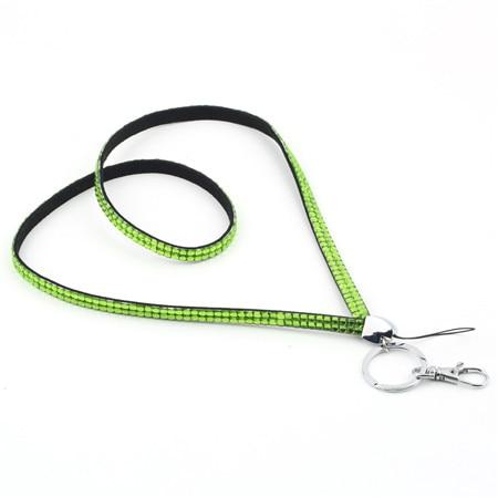 1pc Unisex Rhinestone Crystal Bling Custom Neck Lanyard & ID Badge Cellphone Key Holder Ring for Casual / Sporty