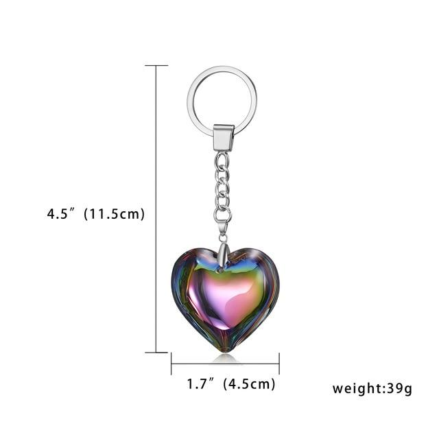 RINHOO Heart Keychain Leather Tassel Gold Key Holder Metal Crystal Key Chain Keyring Charm Bag Auto Pendant Gift Wholesale Price