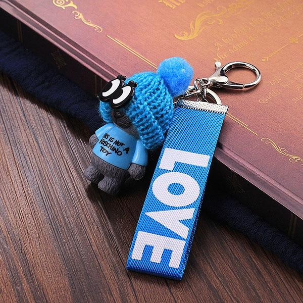 Cute Teddy Bear Key Chain'THIS IS NOT A KOSCHINO TOY'Bear KeyChain Animal Pattern Key Holder For Girl Friend