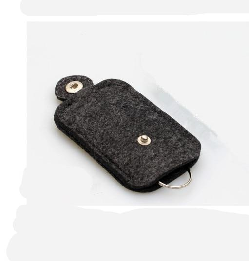1 PC Fashion Car Key Bag Wallet Purse Woolen Felt Keychain Holder Pocket Keys Organizer Pouch Case Bag Housekeeper