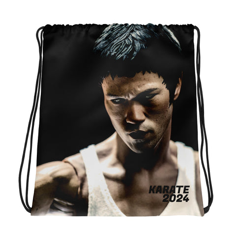 Bruce Lee Drawstring bag