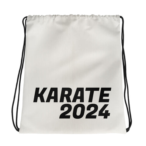 Karate 2024 Support Drawstring bag Black