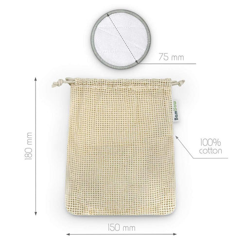 Bamboo Reusable Organic Cotton Pads