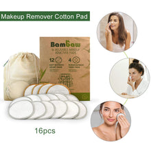 Load image into Gallery viewer, Bamboo Reusable Organic Cotton Pads