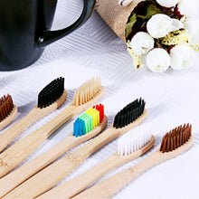 Load image into Gallery viewer, Natural Bamboo Handle Toothbrush