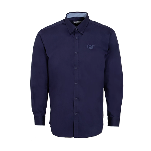 Men's Long Sleeved Navy Shirt