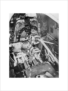The cockpit interior of a Supermarine Spitfire Mk II, August 1940.