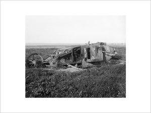 Remains of a Mk I 'Male' Tank of 'D' Company on the old Somme battlefield, September 1917.