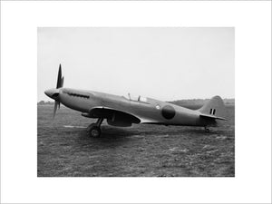 Supermarine Spitfire PR Mk XIX at Eastleigh in Hampshire, after assembly at Vickers Armstrong Ltd, 9 May 1944.