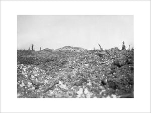 The remains of Thiepval chateau on the Somme battlefield, 28 September 1916.
