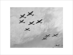 Nine Hawker Hurricanes of 85 Squadron