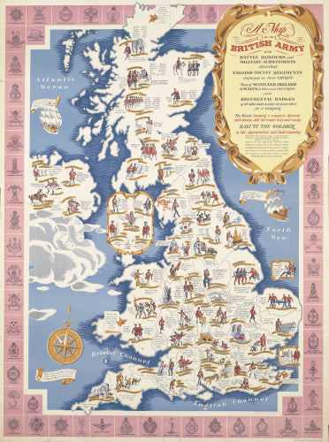 A Map fo the British Army, H M Forces Savings