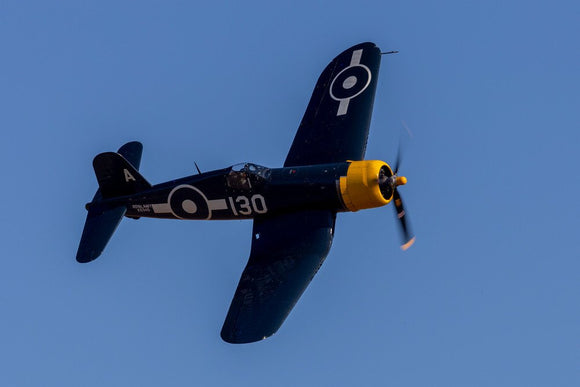 Goodyear Corsair FG-1D banking during the Battle of Britain Airshhow