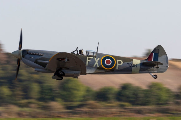 Supermarine Spitfire IX, TD314FX-P (G-CFYJ) flypast during the Battle of Britain Airshow