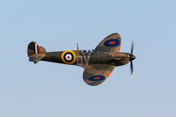 Supermarine Spitfire Mk Ia N3200 (G-CFGJ) SM845 flypast during the Battle of Britain Airshow