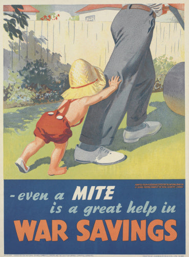 Even a Mite is a Great Help in War Savings