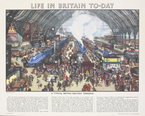 Life in Britain Today - A Typical British Railway Terminus