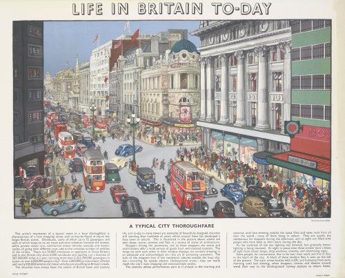 Life in Britain Today - A Typical City Thoroughfare
