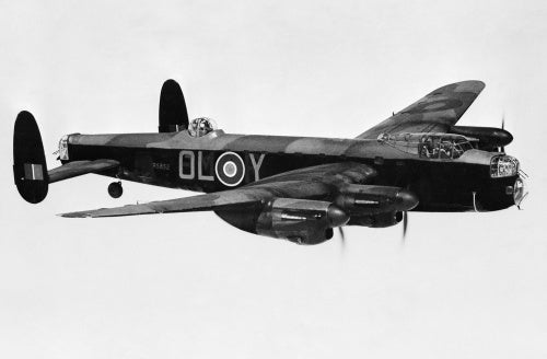 Avro Lancaster Mk I of No. 83 Squadron, based at Scampton in Lincolnshire, June 1942.