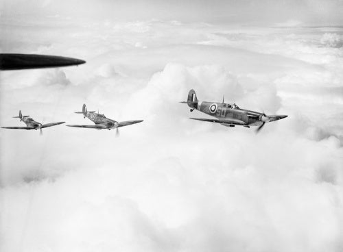 Supermarine Spitfire Mk Is of No. 501 Squadron RAF based at Colerne, Wiltshire, 23 May 1941.
