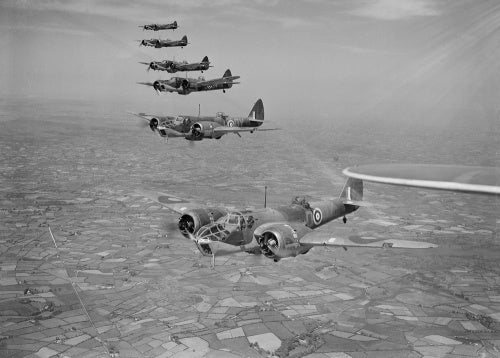 Bristol Blenheim Mk IVFs of No. 254 Squadron RAF flying from Aldergrove in Northern Ireland, May 1941.