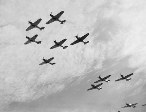 Hawker Hurricanes of No. 85 Squadron RAF, October 1940.