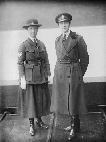 An Inspector and Sergeant of the Women's Police Service during the First World War.