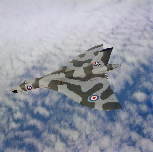 An Avro Vulcan B.2 aircraft of No. 9 Squadron based at RAF Cottesmore, 1965.
