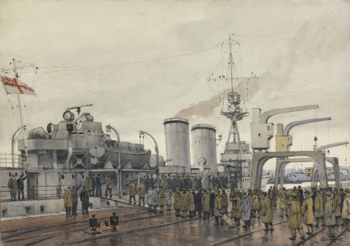 Stettin, New Year 1919 : British prisoners homeward bound boarding
